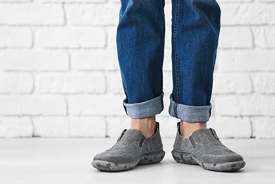 comfort shoes | photo of guy wearing quality flat casual shoes